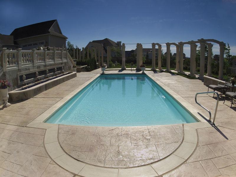 Viking rectangle pools aqua pro pool spa for Viking pools