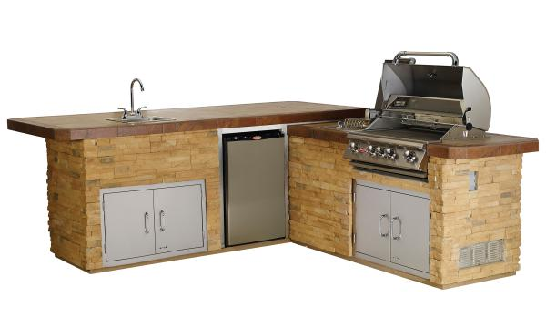 Bull outdoor kitchens aqua pro pool spa for Gourmet kitchen island designs